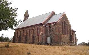 [The rarely used Anglican church at Woodhouselee NSW, Australia.]